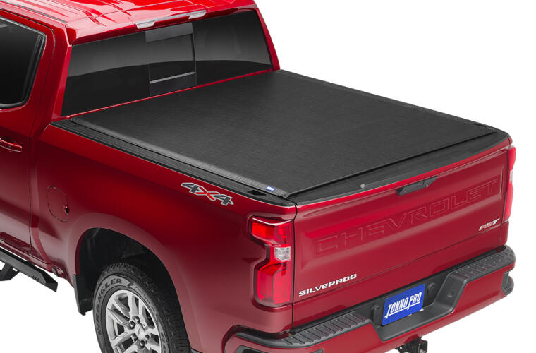 TonnoPro TPOLR-1095 LoRoll Tonneau Truck Bed Cover for 19-21 Chevy Silver 5.10'