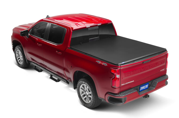 TonnoPro TPOHF-161 HardFold Tonneau Truck Bed Cover for 74-87 Chevy Silve 8ft